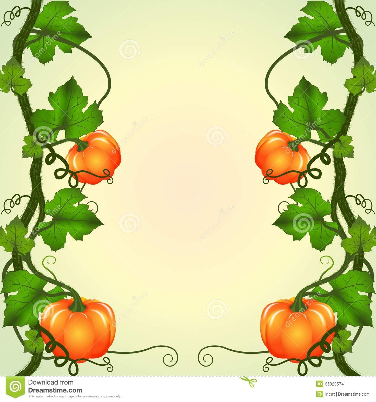 1300x1390 Pumpkin Vines Clipart