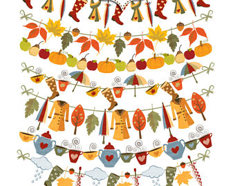 340x270 Autumn Clipart Thanksgiving Illustrations. Fall Digital Thanks