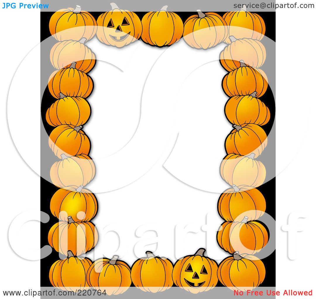 1080x1024 Royalty Free (Rf) Clipart Illustration A Halloween Border