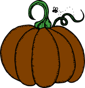 285x297 Brown Clipart Pumpkin