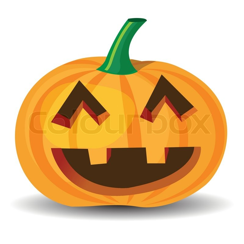 800x800 Halloween Pumpkin With Laughing Expression, Vector Format. Stock