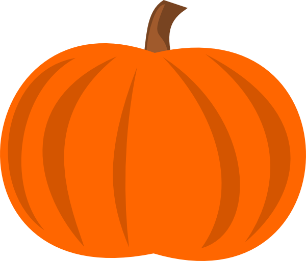 600x513 Plain Pumpkin Clipart