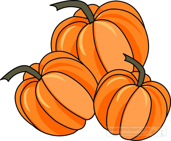550x452 Turkey And Pumpkin Clipart