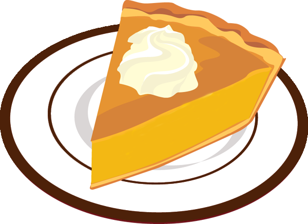 600x436 Desert Clipart Slice Pie