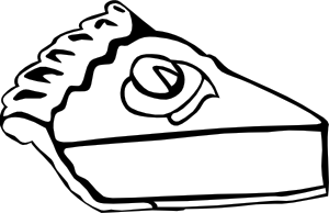 300x194 Pumpkin Pie (B And W) Clip Art