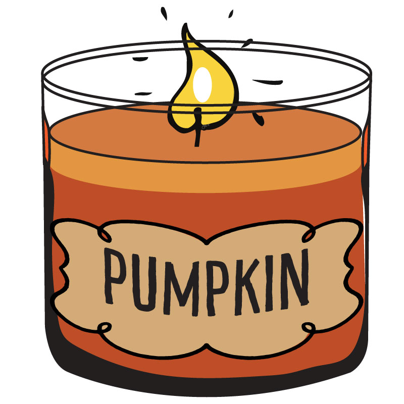 800x800 Pumpkin Candle Clipart, Fall Clipart, Autumn Clipart Autumn