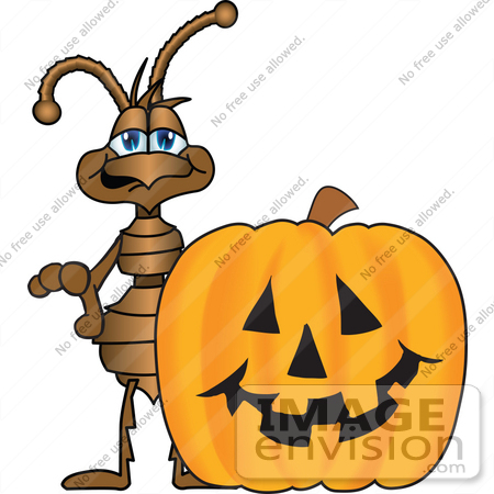 450x450 Clip Art Graphic Of A Brown Ant Insect Mascot Character Standing