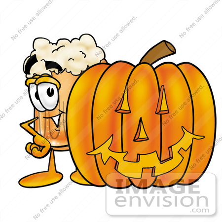 450x450 Clip Art Graphic Of A Frothy Mug Of Beer Or Soda Cartoon Character
