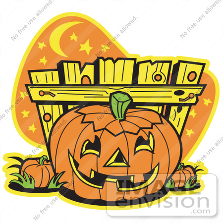 450x450 Royalty Free Cartoon Clip Art Of A Halloween Pumpkin With A Carved