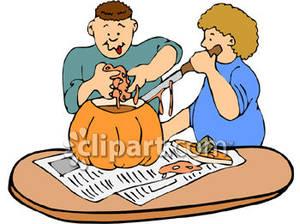 300x224 Carving A Pumpkin Clipart Cliparts
