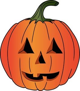 265x300 Halloween Pumpkins Clipart