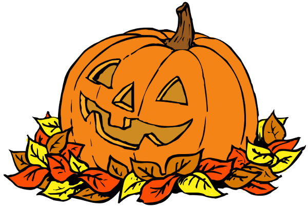 600x405 Pumpkins And Fall Leaves Clipart Kid 2