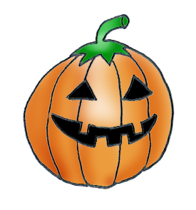 275x295 Silly Pumpkin Clipart