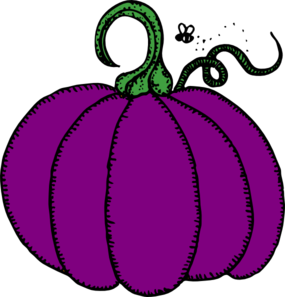 285x297 Purple Pumpkin Clip Art