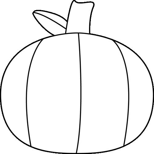 500x499 Black And White Plain Pumpkin Clip Art