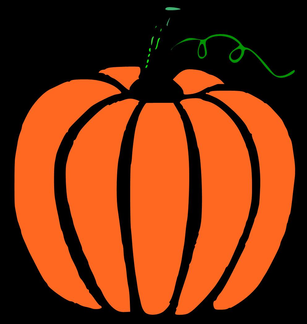 993x1046 Pumpkin Clipart Black And White
