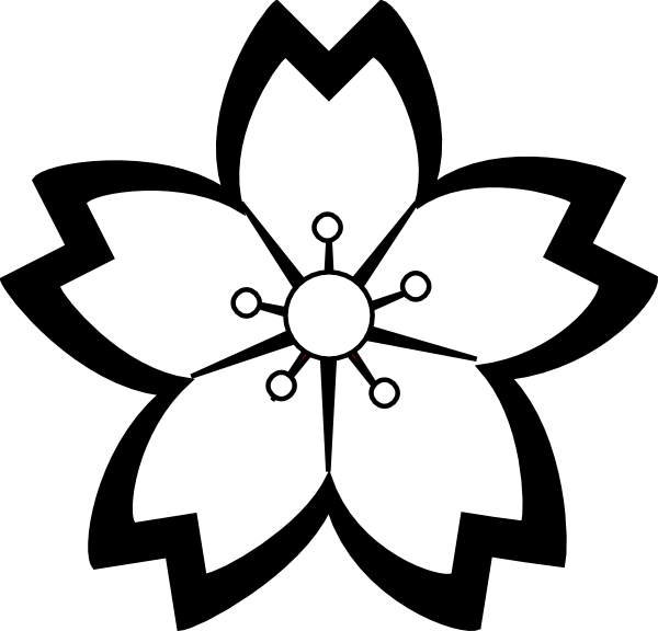 600x576 Flower Black And White Pumpkin Clipart