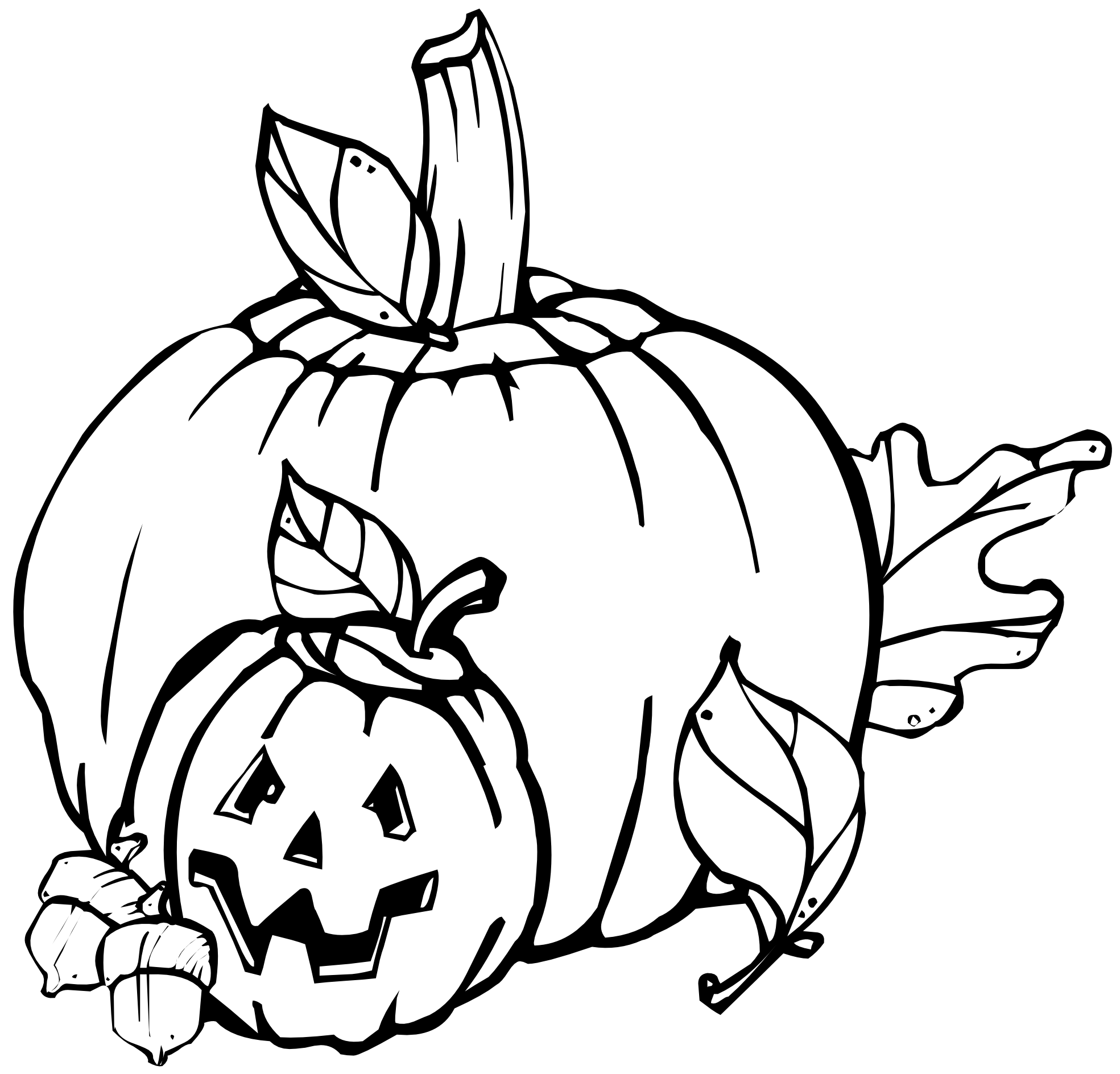 1969x1888 Pumpkin Black And White Clip Art