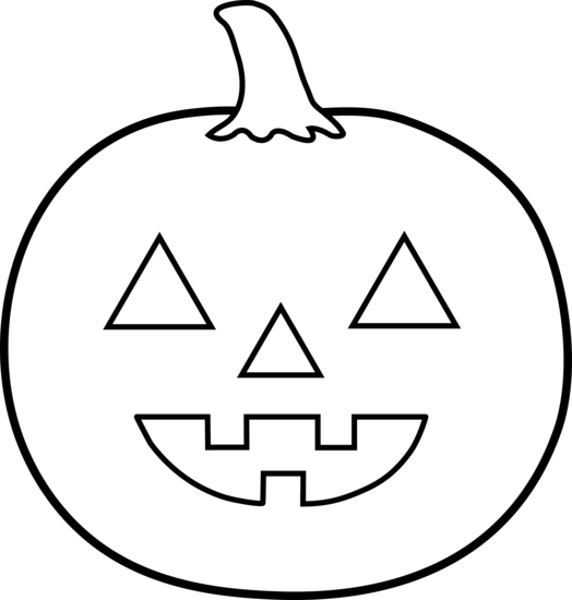524x550 Pumpkin Black And White Black And White Halloween Free Clipart
