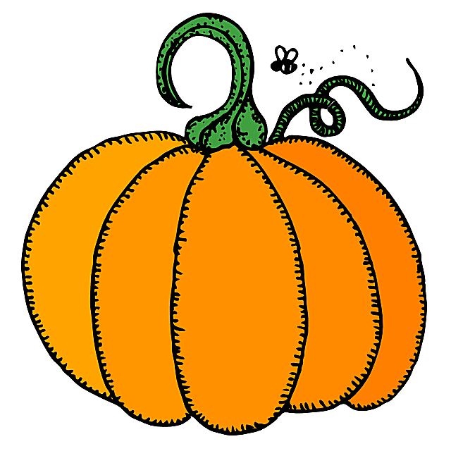 640x640 Pumpkin Black And White Halloween Clipart Pumpkin