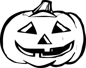 293x232 Pumpkin Black And White Halloween Pumpkin Clip Art Black And White