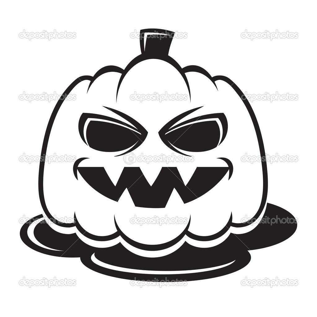 1024x1024 Scary Pumpkin Clipart Black And White