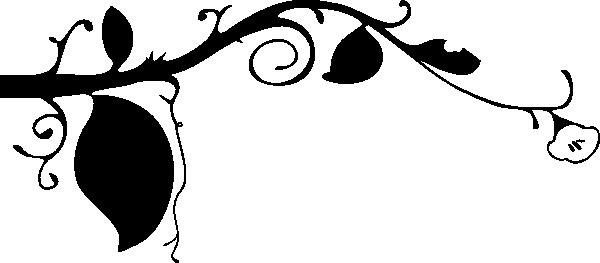 600x263 Vine Clip Art Free Black And Clipart Panda