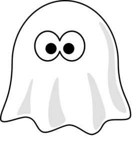 276x299 Black And White Ghost Clip Art
