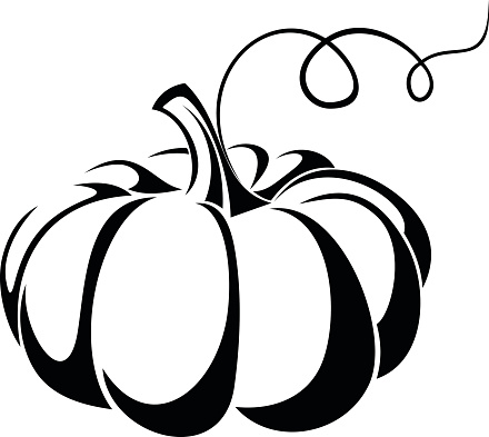 440x393 Pumpkin Black And White Halloween Pumpkin Clip Art