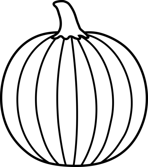 487x550 Black And White Pumpkin Lineart