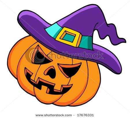 450x407 Pumpkin In Witch's Hat