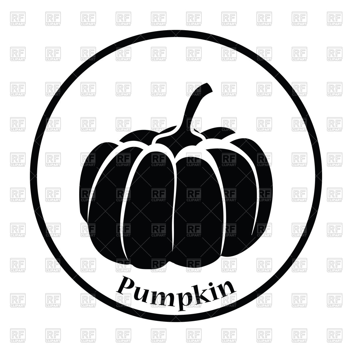 1200x1200 Pumpkin Icon Royalty Free Vector Clip Art Image