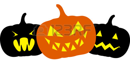 450x210 Seamless Black Background With Simple Halloween Pumpkin Royalty
