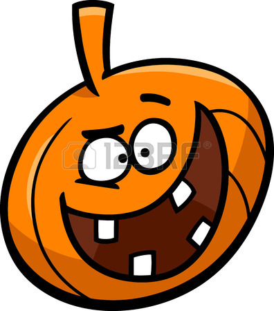 396x450 Cartoon Illustration Of Funny Jack Lantern Halloween Pumpkin