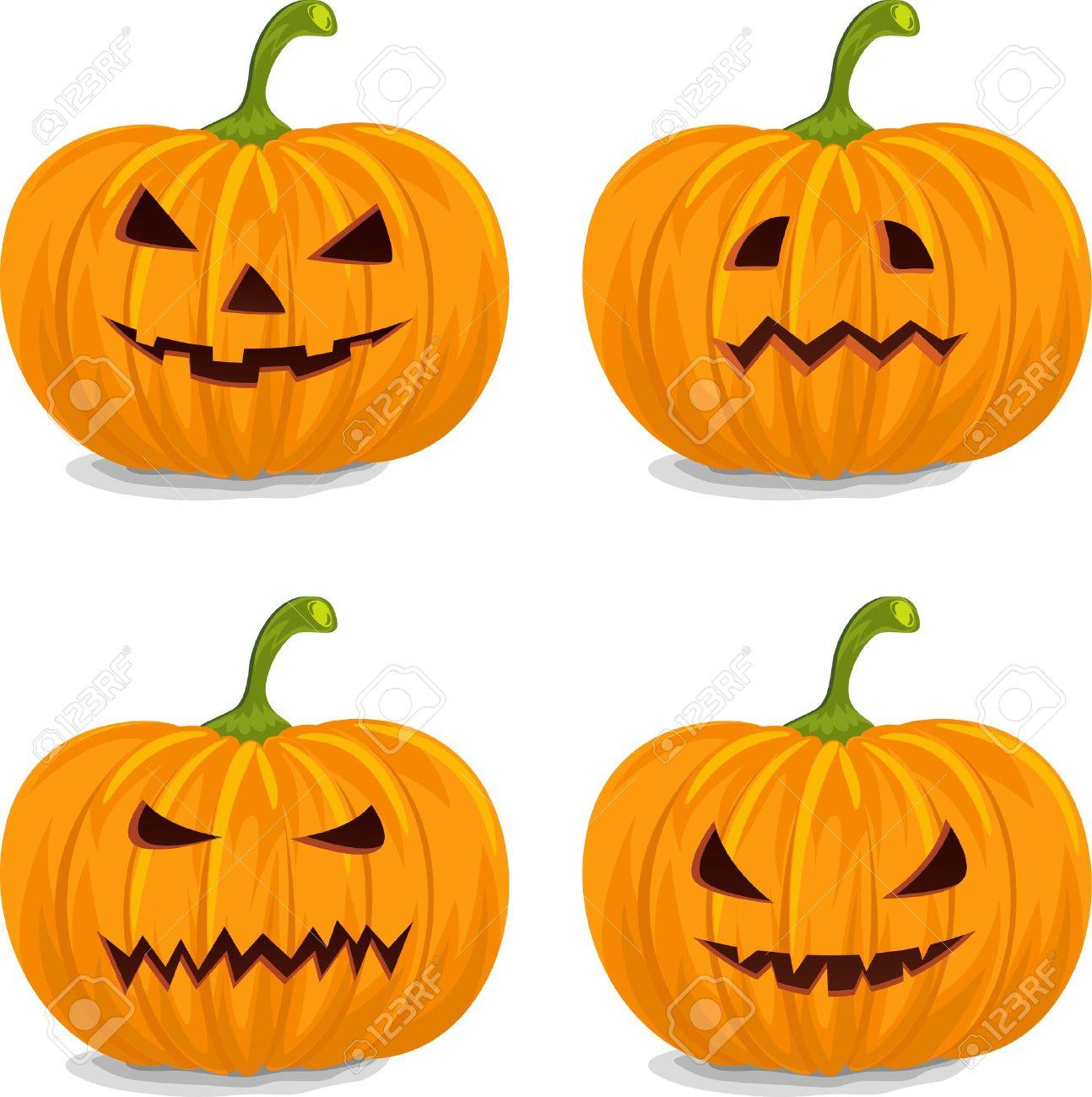 1294x1300 Decorative Pumpkins Clipart