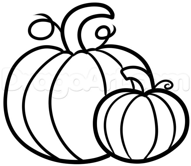 648x565 Drawn Pumpkin Pumkin