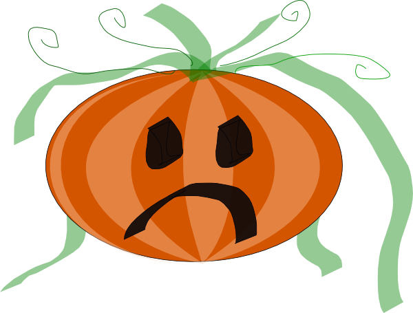 600x455 Decorated Sad Pumpkin Clip Art Free Vector 4vector