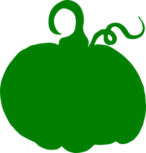 285x299 Green Pumpkin Clip Art