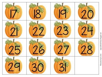 350x263 Pumpkin Calendar Numbers Classroom Ideas Calendar