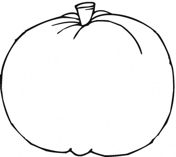 589x525 Pumpkin Outline Clip Art