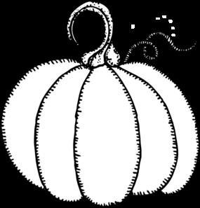 285x297 Pumpkin Outline Clip Art
