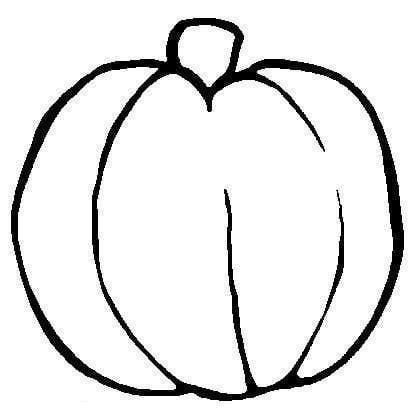 420x420 Pumpkin Outline Clipart
