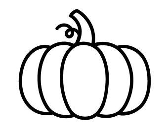 340x270 Pumpkin Outline Etsy