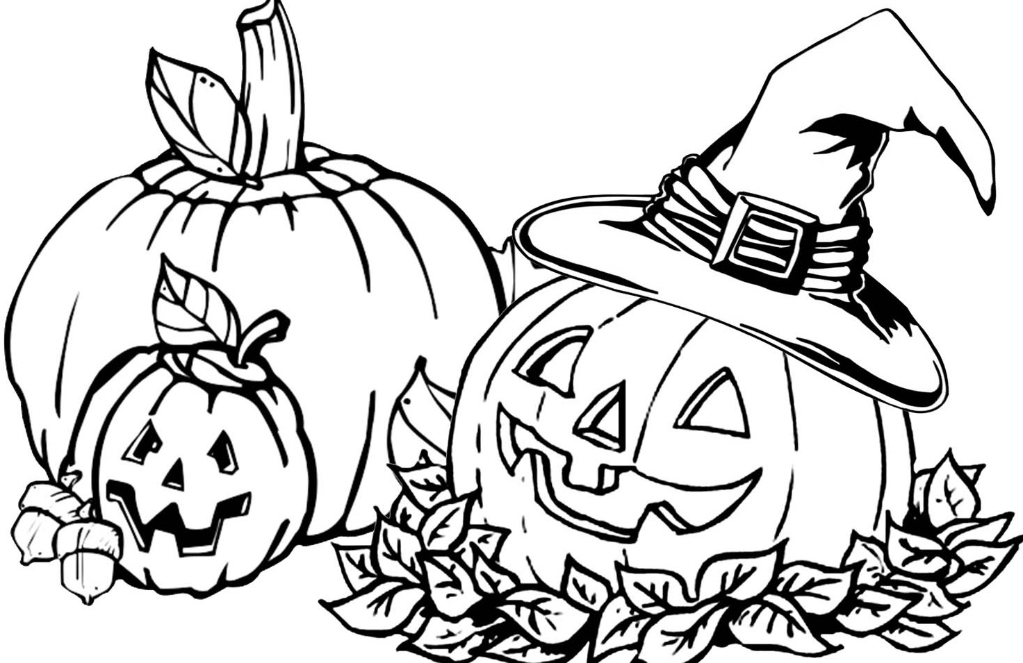 Pumpkin Patch Coloring Page | Free download on ClipArtMag