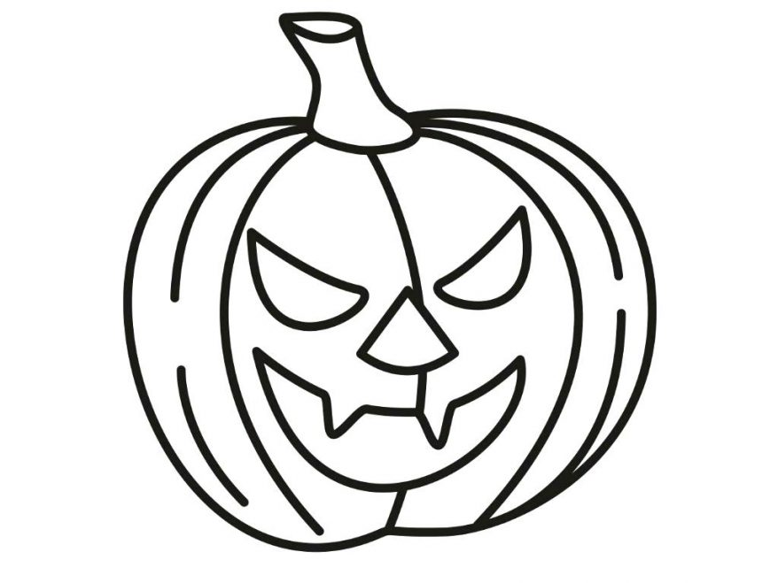 878x659 Coloring Appealing Free Printable Pumpkin Coloring Pages. Free