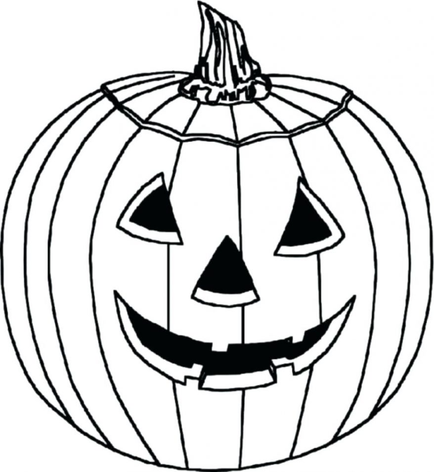 878x955 Cute Pumpkin Coloring Pages With Kitten 117 Appealing Free