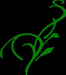 264x298 Green Ornate Swirl Vine Clip Art