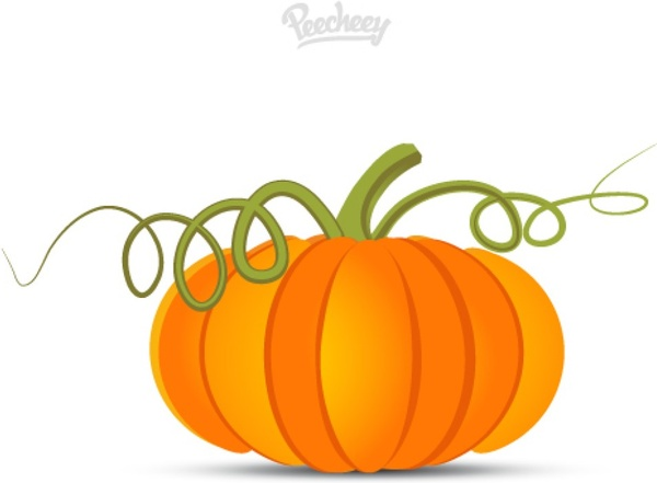 600x441 Pumpkin Vine Drawing. Free Horizontal Vine Clipart