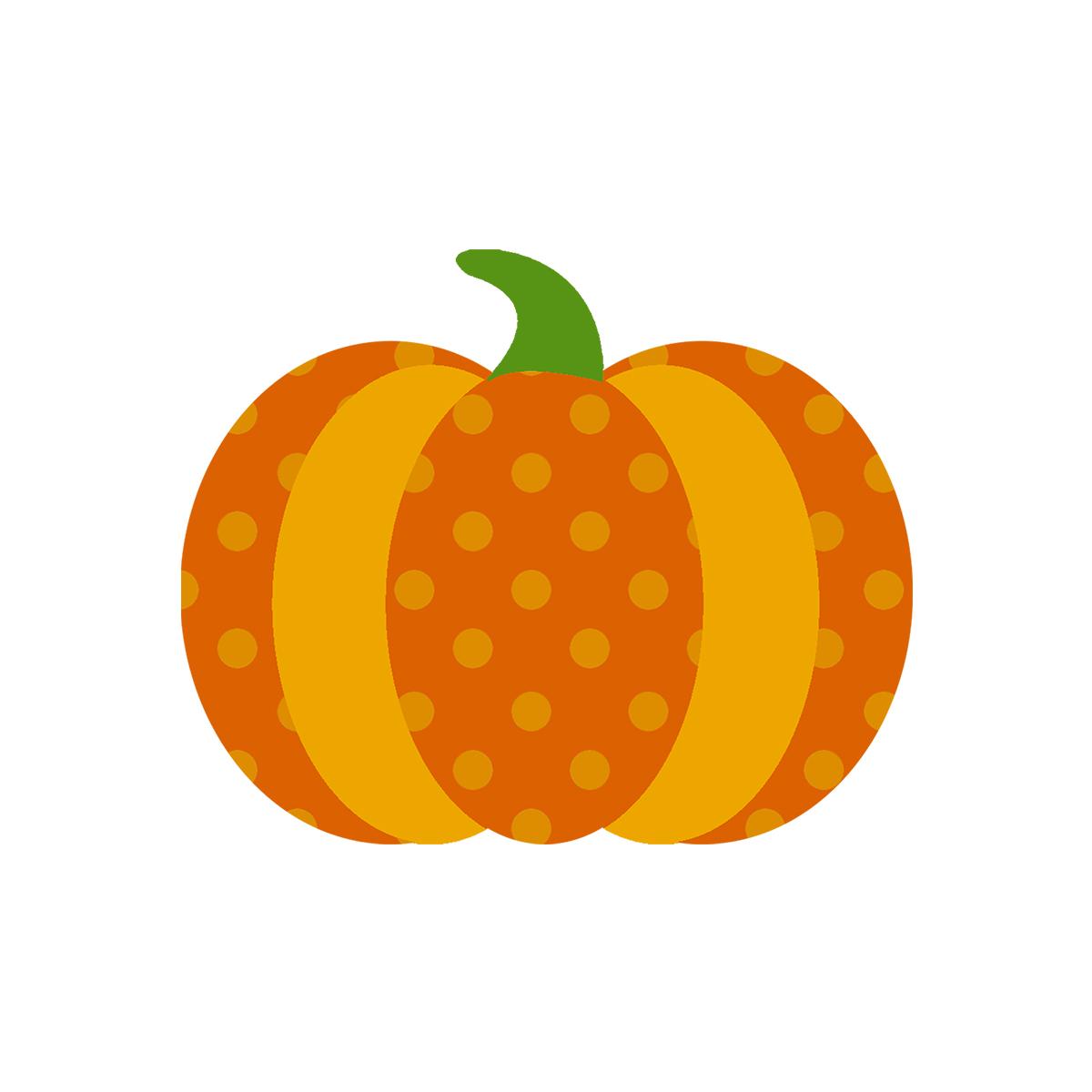 1200x1200 Dot Pumpkin Clipart