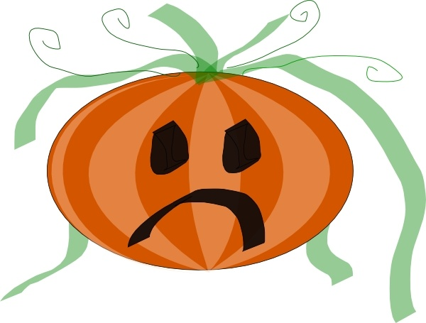 600x455 Decorated Sad Pumpkin Clip Art Free Vector In Open Office Drawing